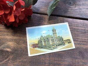 Vintage-Linen-Postcard-Federal-Building-and-Post-Office-Omaha-Nebraska-1940s