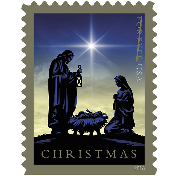 2016 47c Christmas, Jesus in Nativity, Holy Family Scot