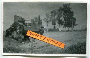 Foto - 1 : Flammpanzer / Panzer mit Flammenwerfer aus Rußland im 2.WK