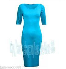 Womens Celebrity Wear to Work Party CLUB Tight Slim Fit Bodycon Midi Dress 2XL