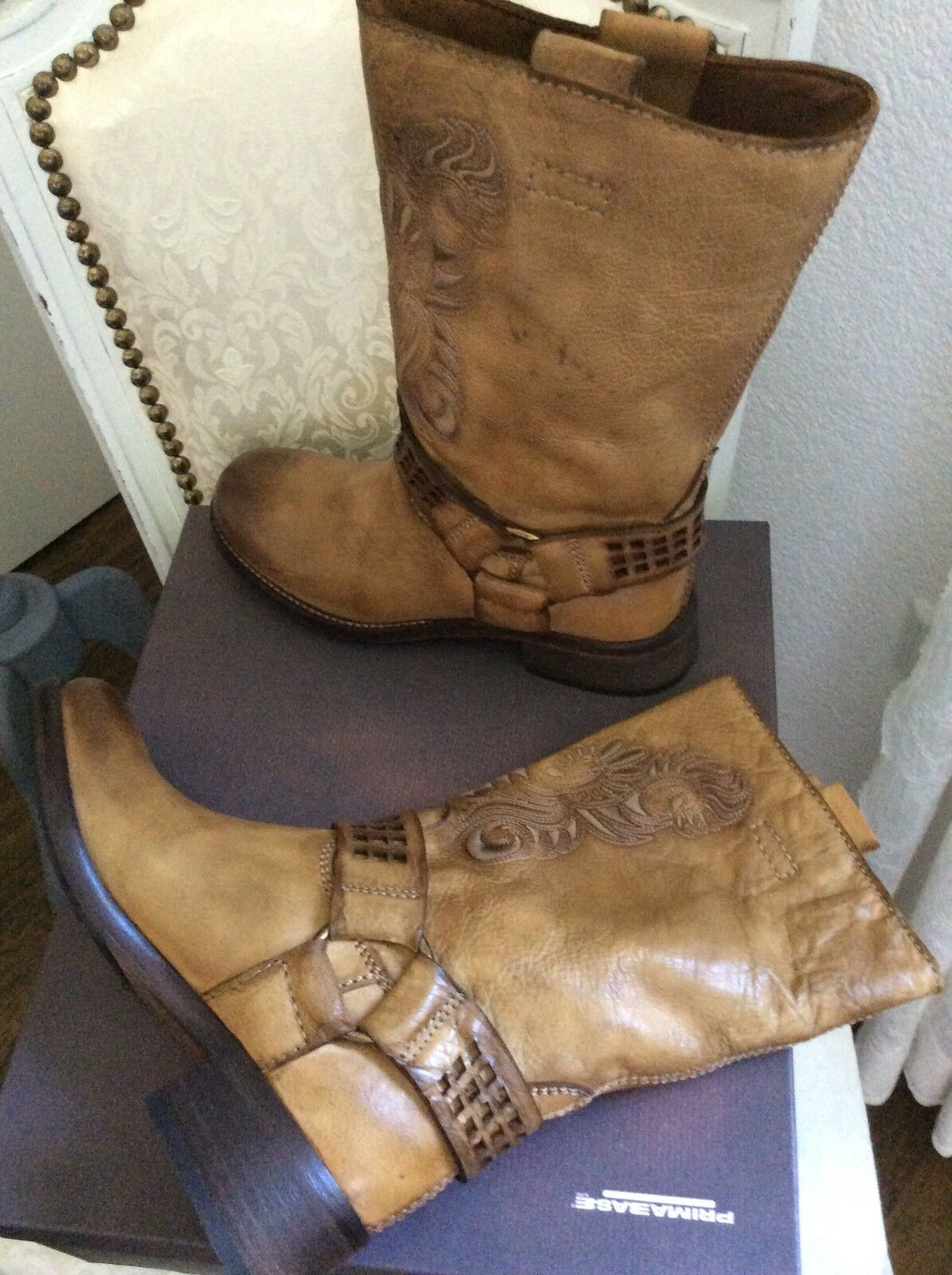 Neu Primabase Vintage Stiefel Stiefel Impressionen Stickerei Vintage Primabase 317e3e