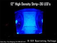 12 30cm Blue Led Strip Speaker Box-amp-interior Lighting 36 Led's Waterproof
