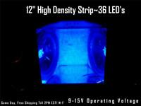 12 30cm Blue Led Strip Speaker Box-amp-interior Lighting 36 Led's Waterproof