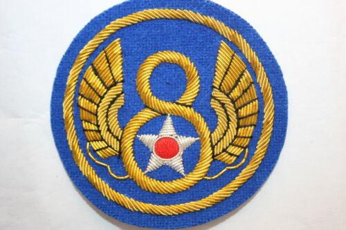 BULLION WIRE FELT PATCH WWII STYLE 8TH ARMY AIR FORCE AAF A.A.F