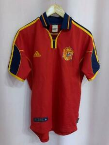 SPAIN NATIONAL TEAM 1999/2002 HOME FOOTBALL SHIRT JERSEY VINTAGE SIZE S ADIDAS
