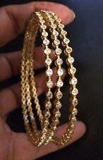 18k on4k Yellow Gold Set3 SlipOn Bracelet Bangle Bride Real 22k Like Oscar India