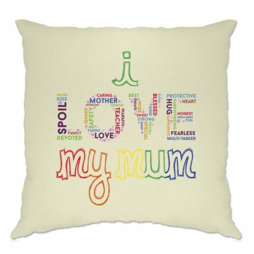 Mother/'s Day Cushion Cover I Love My Mum Mom Slogan Family Support Home Birthday