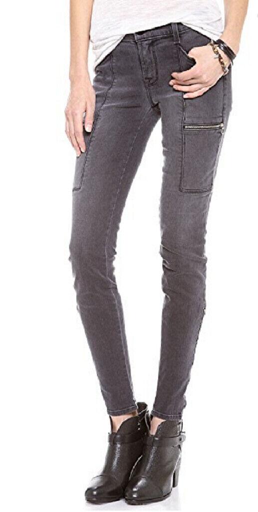 J BRAND damen Kassidy 1348VK120 Jeans Skinny Vintage schwarz grau Größe 25
