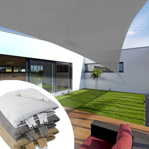 je 2 Größen Sonnensegel Sonnenschutz Beschattung Segel Quadrat od.Trapez