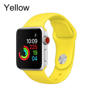 Silicone Iwatch Band For Apple Watch Series 5 4 3 2 40 44mm Wrist Bracelet Strap Ebay