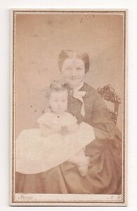 Vintage-CDV-Uncle-George-039-s-Wife-Faris-Photo-Broadway-New-York