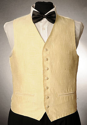 W - 1059. Gold And Silver Silk Finish Waistcoat Wedding/ Dress/ Formal Mit Dem Besten Service