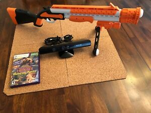 MICROSOFT-XBOX-360-KINETC-SENSOR-BIG-GAME-HUNTER-GAME-amp-GUN-FREE-SHIPPING