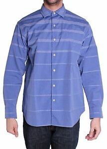 Tommy Bahama Tidal Reflections Long Sleeve Shirt Mens L Deep Sterling $138 NWT