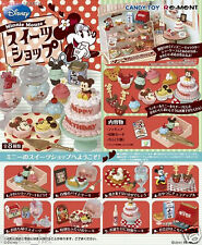 Re-ment Miniatures Minnie Mouse birthday Cake Shop Cafe Dessert Full Set of 8