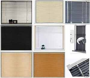 PVC-Blinds-Window-Venetian-Home-Office-Easy-Fit-Blind-Wood-Effect-TRIMMABLE-New