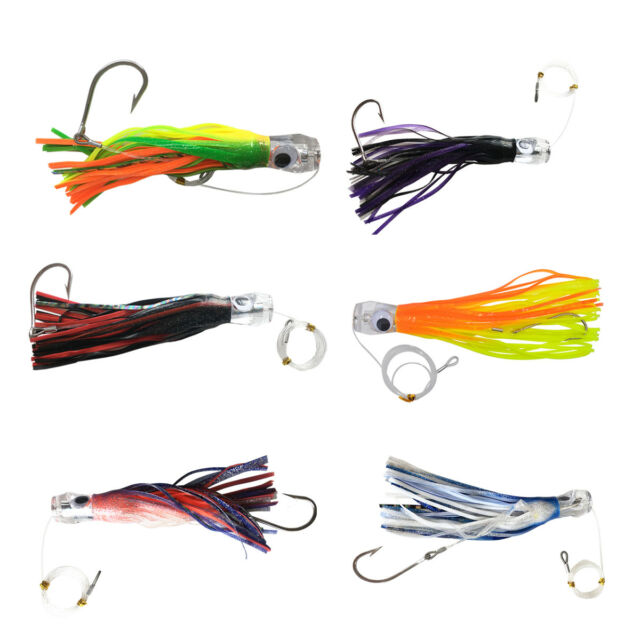 Octopus Skirts Trolling Lure Saltwater Tuna Skirt Lures with Stainess Steel Hook