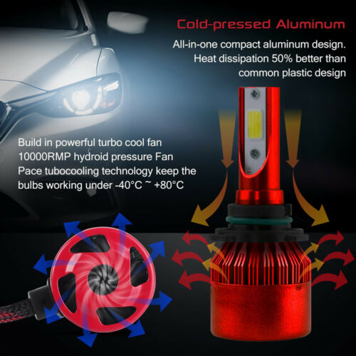 For 2006-2017 Dodge Charger Xentec LED Light Bulbs Kit 9005 9006 9145 H11 2504