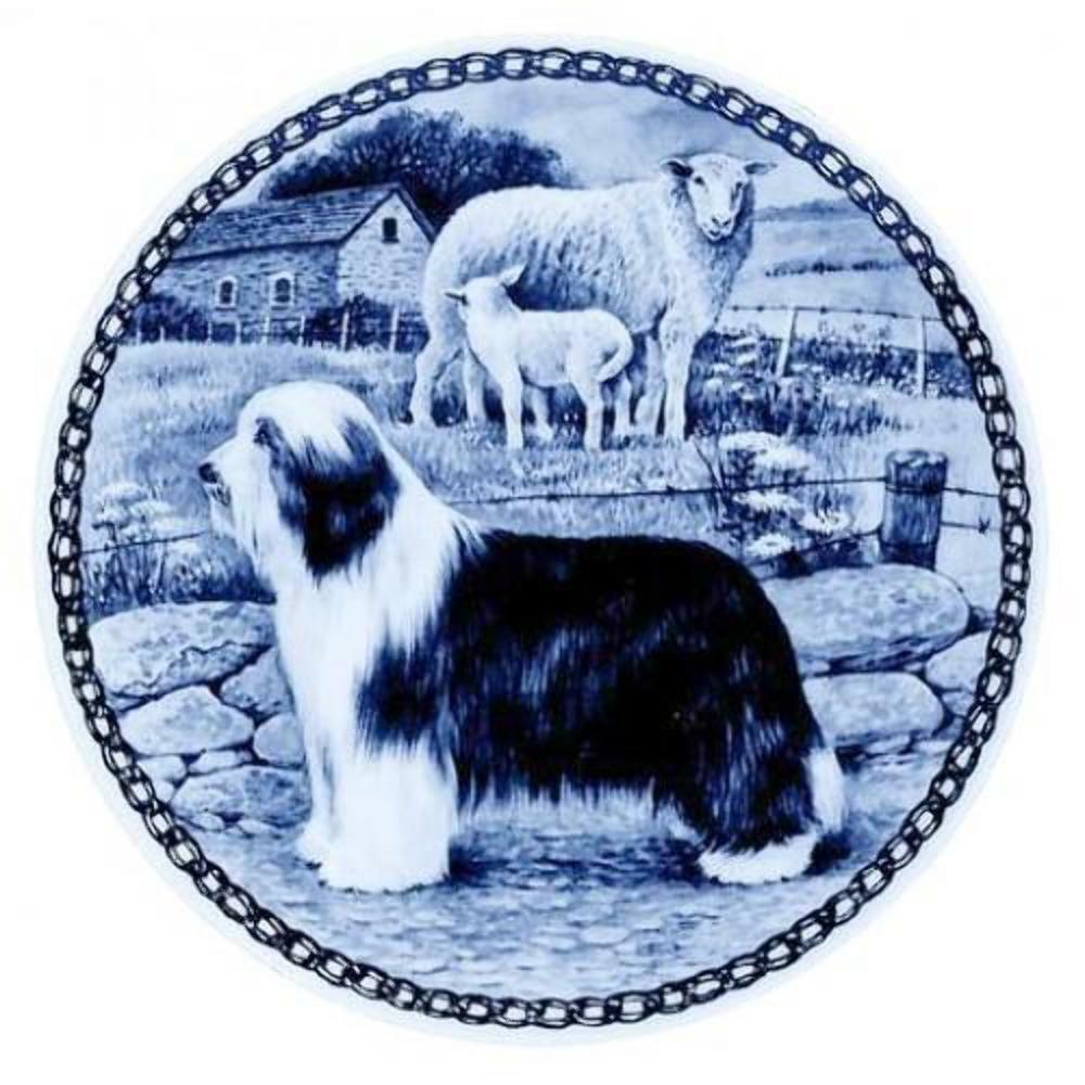 Bearded Collie - Dog Plate made in in in Denmark from the finest European Porcelain  tienda de venta en línea
