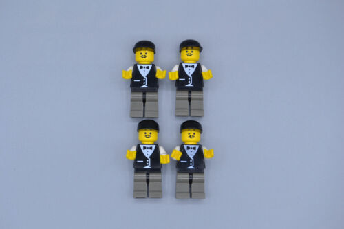 LEGO 4 x Figur Stadt City Town twn004 Town Vest Formal Race Official 6713 6617