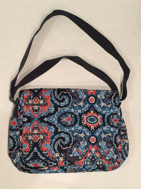 734f6ee8dc6c Vera Bradley MESSENGER Marrakesh Pattern Bag Laptop Campus Crossbody  Shoulder