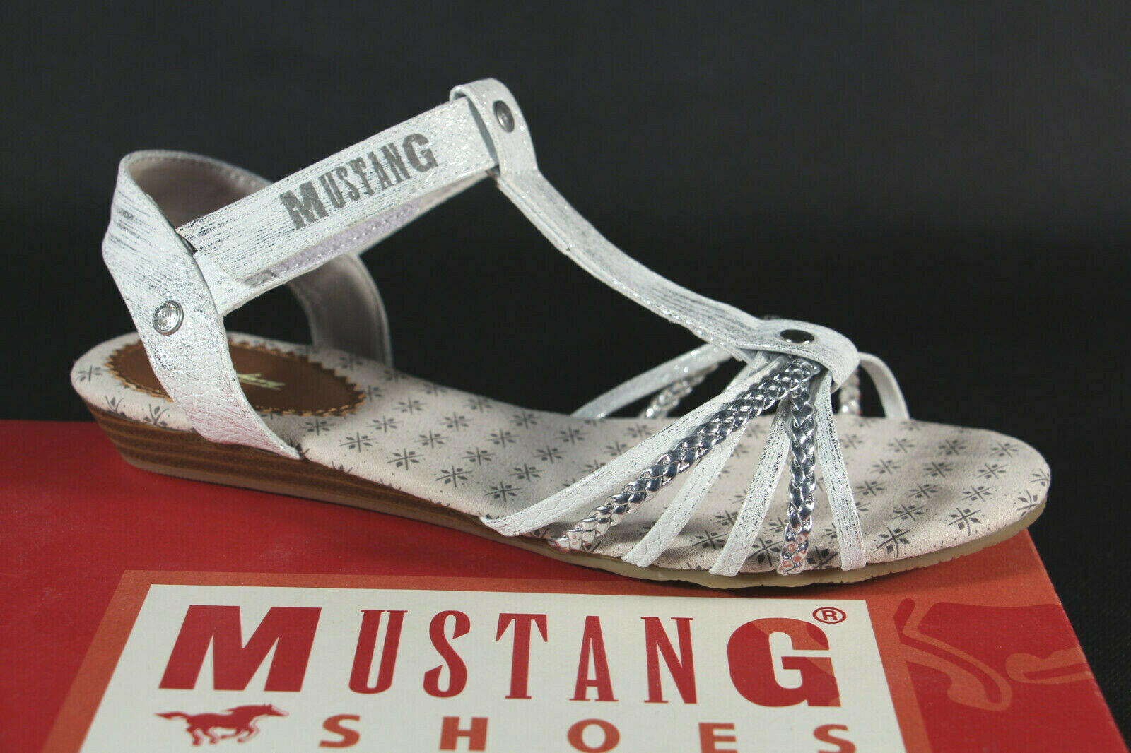 Mustang girls sandal sandals closed sticker silver 5029-812 new