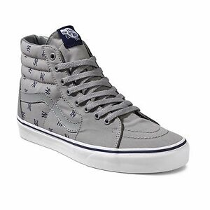 0f2e164e38b3fb Vans Sk8 Hi Men s MLB New York Yankees Grey Blue Baseball NY Shoes ...