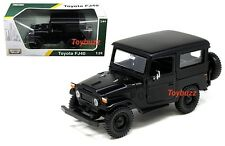 MOTOR MAX 1:24 PLATINUM TOYOTA FJ40 FJ 40 LAND CRUISER MATTE BLACK 79323 NEW