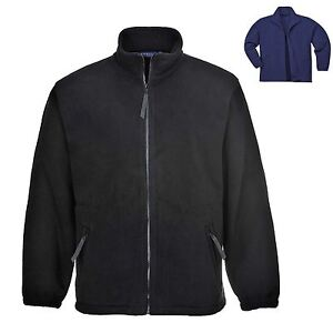Mens Warm Fleece Jacket Heavy Weight Thick Coat Outdoor Walking