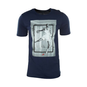 290df1ef7 Image is loading NIKE-AIR-JORDAN-HANGTIME-BLUE-T-SHIRT-807787-