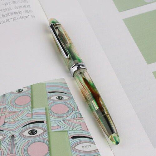 PENBBS 308 Acrylic China Fountain Pen Smooth Fine Nib 0.5mm Office Writing #B9