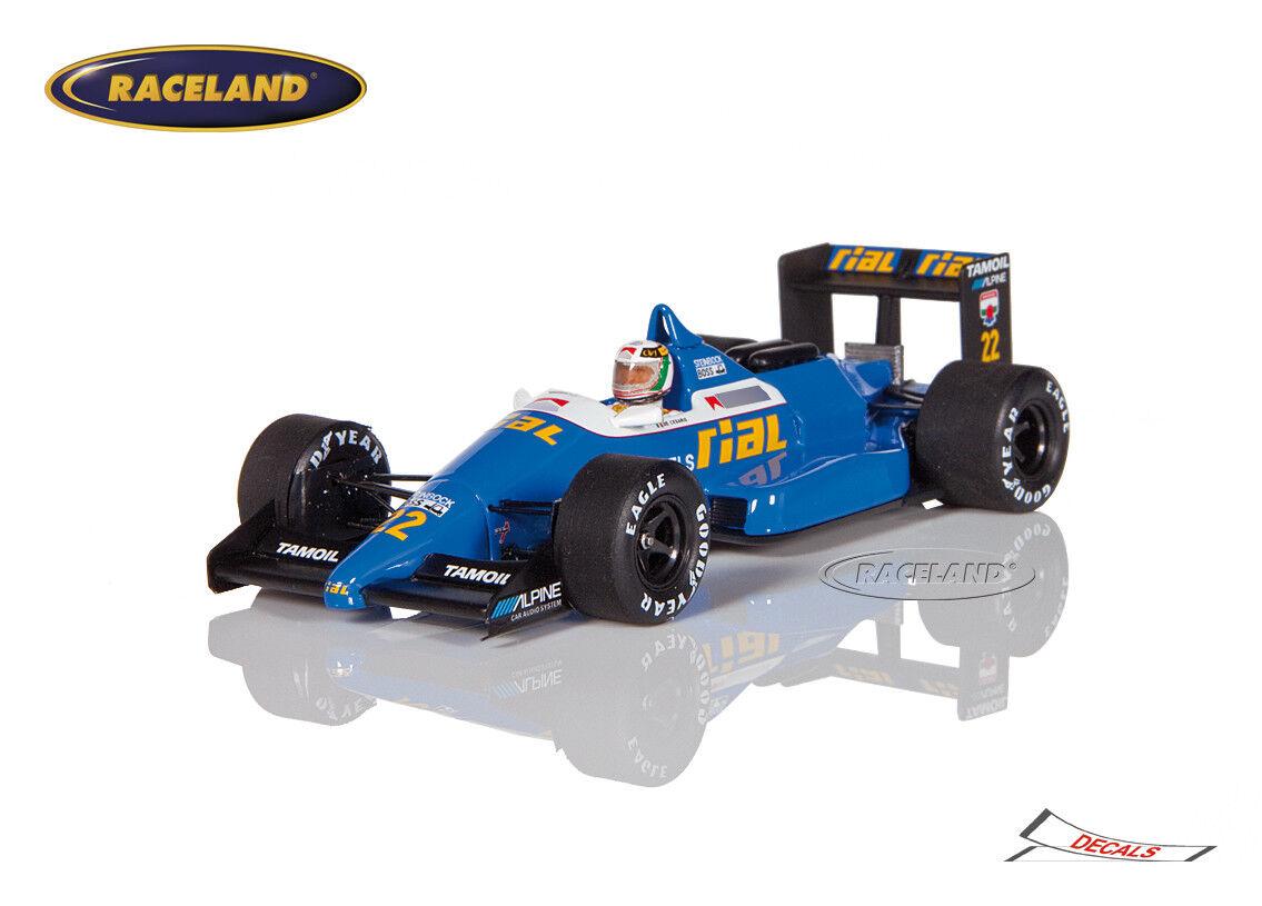 Rial ARC1 Cosworth V8 F1 GP Belgien 1988 Andrea de Cesaris, Spark 1 43, S4311