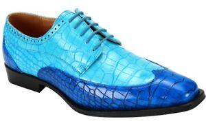 Men's Dress Shoes Wing Tip Oxford Blue