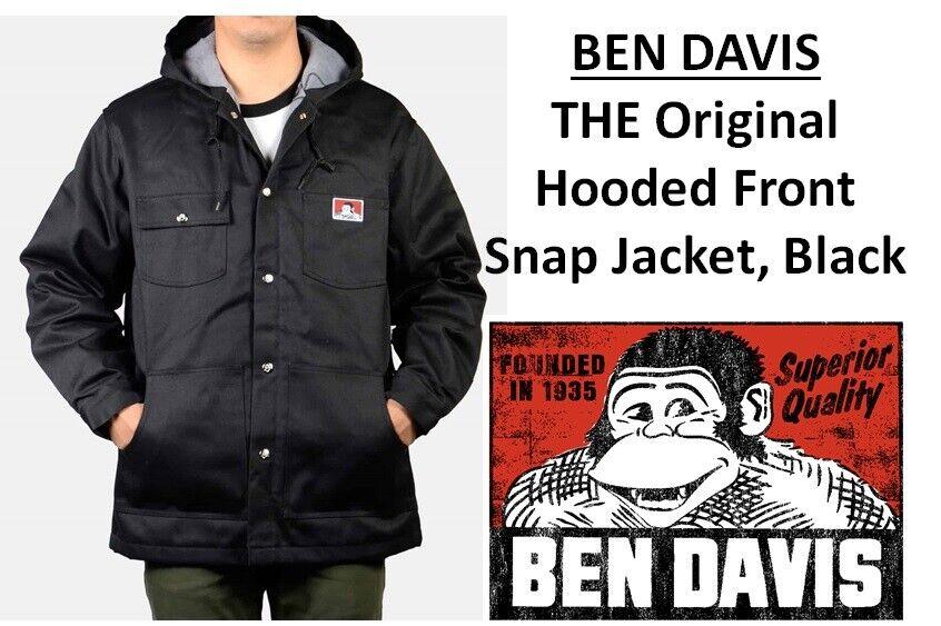 Nuevo Ben Davis para Hombre Chaqueta Con Capucha frente Snap  El Original-Negro  garantía de crédito