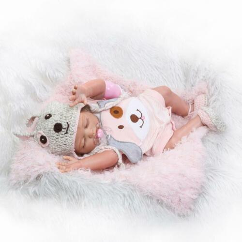 50cm Full Silicone Reborn Baby Dolls Bath Toys Sleeping Lovely Girl Xmas Gifts