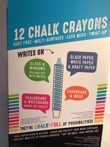 International Arrivals 124-003 Multi-Surface Children Drawing Chalk Chalk o rama