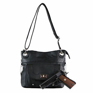Concealed Carry Cross Body Leather Gun Holster