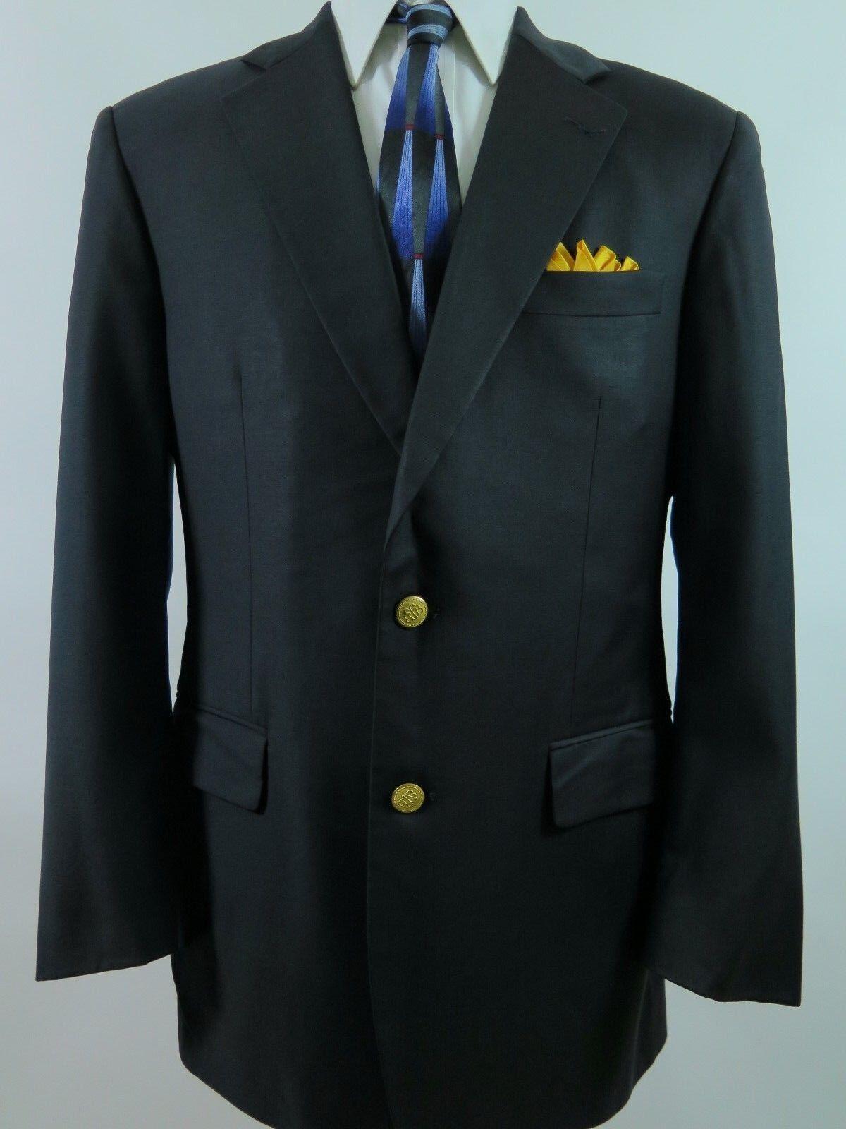 Brooks Bredhers Country Club Lgold Piana  gold Button Blazer Sport Coat 41 R