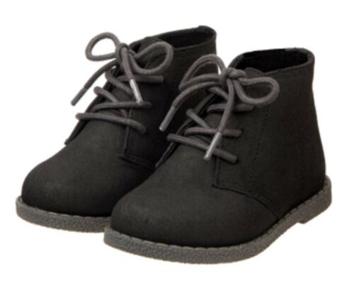 Gymboree Holiday Dressed Up Boots Black Hi top Boys Christmas Shoes Size 9