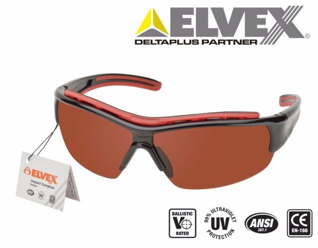 2010ad2fc68 Elvex Rsg301 Impact Safety Eyewear Series Black Frame blue Blocker Lens