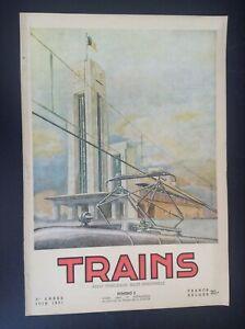 TRES-RARE-ancienne-revue-SNCB-Trains-N-2-1951-rail-Belgique-TTBE