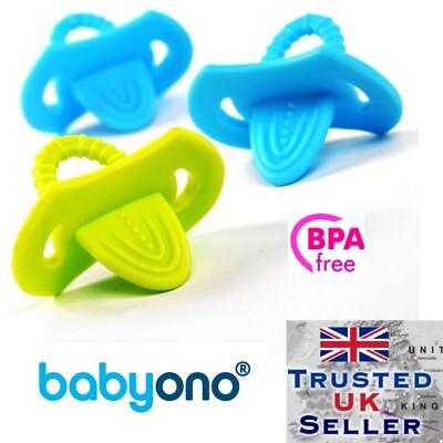 Flessibile Teether Baby Neonato Colore Chiaro Elastico Privo Di Bpa Babyono 2pcs-