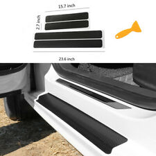 Car Accessories Carbon Fiber Stickers Door Sill Protector Suv Sedan Parts Fits Isuzu