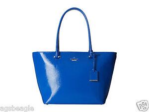 Kate Spade Bag PXRU5134 Cedar Street Patent Small Harmony Orbit Blue Agsbeagl s2