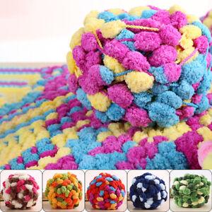 135g-Thick-Woolen-Big-Pom-Pom-Yarn-Soft-Hand-Knitting-Crochet-Yarn-DIY-Craft-New