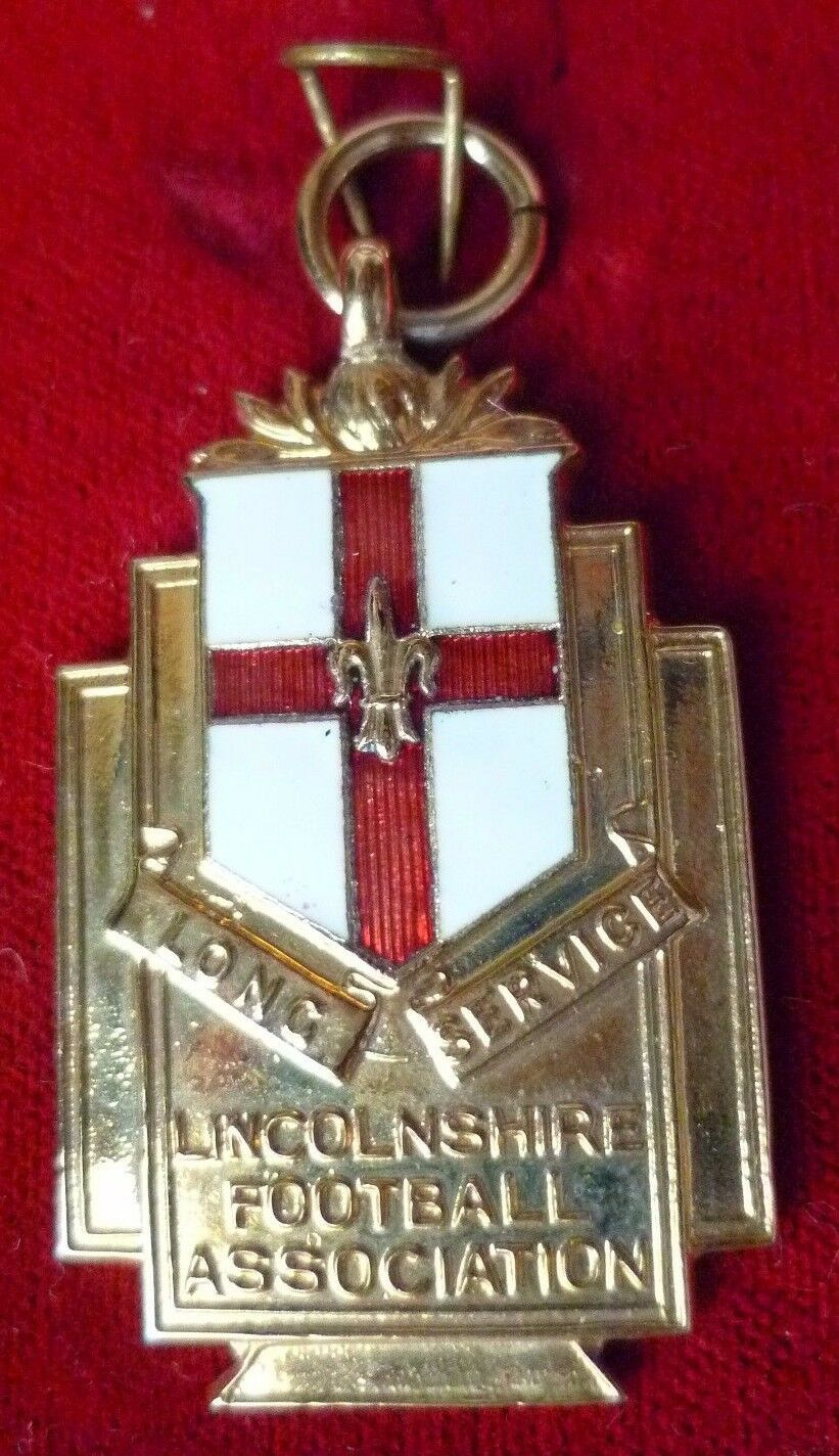 Sports médaille - 1982 Lincolnshire Football Association Long Service Medal-RARE