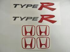 Honda Civic EP3 Type R OEM Rot x 2 Seitenwand+Mittelkappe Aufkleber DUNKEL AUTOS