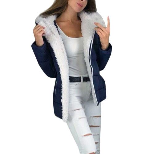 Women Winter Sport Thicken Coats Long Sleeve Warm Jacket Outerwear Zipper Coat