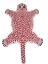 thumbnail 2 -  Pink Leopard Skin Shape 2 x3' Handmade Tufted 100% woollen Rugs