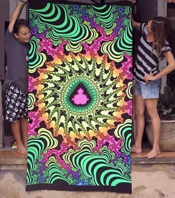Blacklight Active Backdrop Tapestry Artwork UV Active Bohemian Wall Decor Spirit